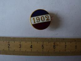 Insigne Décoration Broche Ancienne  émaillée 1902 Boutonnière Tricolore - Army & War