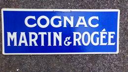 16- COGNAC- RARE BEAU CARTON GAUFRE PUBLICITAIRE COGNAC MARTIN & ROGEE-IMPRIMERIE B. SIRVEN TOULOUSE PARIS - Alcoholes