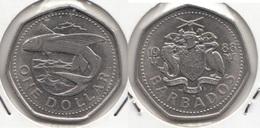 Barbados 1 Dollar 1988 Km#14.2 - Used - Barbados