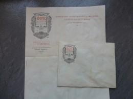 ITALIE COMO 1927 Journées A. VOLTA, Enveloppe Et Papier à En-tête Illustré Comité Exécutif ; Ref 809VP43 - Documents Historiques