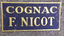 16- COGNAC- RARE BEAU CARTON GAUFRE OR PUBLICITAIRE COGNAC F. NICOT- RECLAME G. COHEN 68 RUE DE PARIS JOINVILLE LE PONT - Alcools