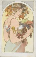 Cpa MUCHA - Femme Aux Fruits Superbe Signée MUCHA - Mucha, Alphonse