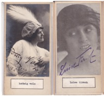 HADWIG VOLZ; LUISE TIRSCH. AUTOGRAPHE AUTOGRAFO SIGNEE SIGNATURE AUTHENTIQUE ORIGINAL.-BLEUP - Autogramme & Autographen