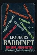 Ancien Calendrier De Poche Publicité  Liqueurs Bardinet Rhum Negrita 1956   Excellent état - Calendriers