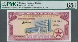 01602 Ghana: 1 Pound 1962 P. 2d, Condition: PMG 65 GEM UNC EPQ. - Ghana