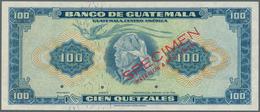 01657 Guatemala: Banco De Guatemala 100 Quetzales 1959-65 SPECIMEN By Waterlow & Sons Ltd., P.49s In Perfe - Guatemala