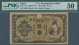 01896 Japan: U.S. Propaganda Leaflet Note 10 Yen ND(1945) In Condition: PMG Graded 50 AUNC. - Japón