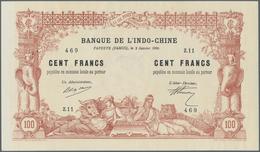 02473 Tahiti: Highly Rare Condition 100 Francs 1920 P. 6b, Unfolded, Original Crisp, No Tears, Only Pinhol - Billetes