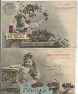 BERGERET  Les Fruits (fraises, Pommes) (2 Cartes) - Children