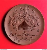 Allemagne.Médaille Porcelaine (porzellan) Meissen 55mm - Johann Gottfried Silbermann - Maison Et Orgue - [11] Collections
