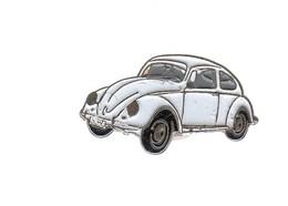 Pin's -  VOITURE BLANCHE -  VOLKSWAGEN COCCINELLE - Volkswagen