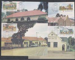 Transkei 1983 Post Offices 4v 4 Maxicards (38619) - Transkei