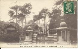 ARCACHON (Gironde) Entrée Du Casino à La Ville D'Hiver - Arcachon