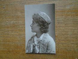 Très Belle Ancienne Carte De 1905 , Silhouette Ou Portrait D'une Jeune Fille - Silhouettes