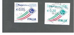 ITALIA REPUBBLICA  -   2011    -   2 VALORI COMPLEMENTARI 0,05 E 0,20   -   USATO  ° - 2011-...: Usati
