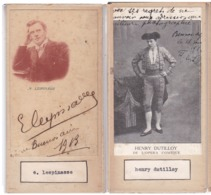 LESPINASSE; HENRY DUTILLOY. AUTOGRAPHE AUTOGRAFO SIGNEE SIGNATURE AUTHENTIQUE ORIGINAL.-BLEUP - Autographes