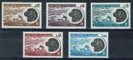 Saint Pierre And Miquelon, Newfoundland Dog, 1973, MNH VF  Postage Due, Complete Set Of 5 - Strafport