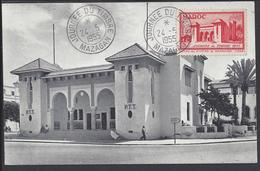 MAROC - CPA Maximum Journée Du Timbre Hotel Des Postes Mazagan 24-5-1955 - TB - - Maroc (1891-1956)