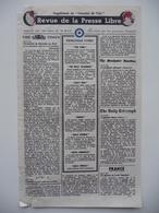 WWII WW2 Tract Flugblatt Propaganda Leaflet In French, PWE F Series/1942, F.63, Revue De La Presse Libre - Oude Documenten