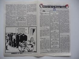 WWII WW2 Tract Flugblatt Propaganda Leaflet In French, PWE F Series/1942, F.91, Revue De La Presse Libre, No.11 - Oude Documenten