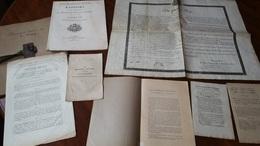 POUDRE ET SALPETRE REUNION DE 7 DOCUMENTS COMTAT CARPENTRAS POWDER  /FREE SHIPPING REGISTERED - Historical Documents