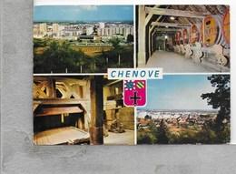 CARTOLINA VG FRANCIA - CHENOVE - Vedutine Multivue - 10 X 15 - ANN. 1973 - Chenove