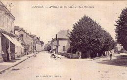 V12994 Cpa 23 Gouzon - Avenue De La Gare Et Des Tilleuls - France