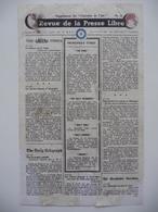 WWII WW2 Tract Flugblatt Propaganda Leaflet In French, PWE F Series/1942, F.98, Revue De La Presse Libre, No.13 - Oude Documenten