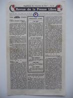 WWII WW2 Tract Flugblatt Propaganda Leaflet In French, PWE F Series/1942, F.121, Revue De La Presse Libre, No.19 - Oude Documenten