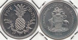 Bahamas 5 Cents 1974 Km#60 - Used - Bahamas