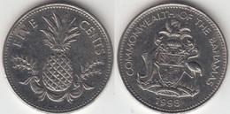 Bahamas 5 Cents 1998 Km#60 - Used - Bahamas