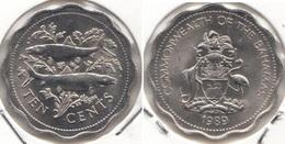 Bahamas 10 Cents 1989 Km#61 - Used - Bahamas
