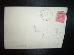 LETTRE TP 2c OBL. JUN 13 (1898) KNIGHTVILLE ME. + Verso OBL. JUN 14 1898 WESTPEMBROKE ME. - 1847-99 General Issues