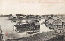 LOT DE 10 CPA + TIMBRE  : CAMBODGE PHNOM-PENH PAGODE PALAIS VILLGAE LACUSTRE MEKONG KIOSQUE INDOCHINE - Cambodge