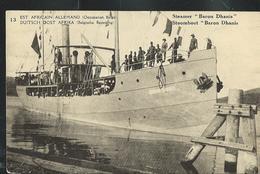 "Carte Neuve  N° 12. Vue 13. Steamer ""Baron Dhanis"" - Stamped Stationery"