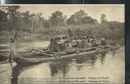 Carte Obl.   N° 12. Vue 30. En Marche Vers Biaramulo. Passage De La Kagera  Obl. Kigoma 1919 - Entiers Postaux