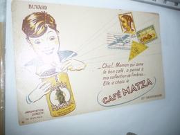 BUVARD Publicitaire  BLOTTING PAPER   -  Cafe Matza Enfant - Coffee & Tea