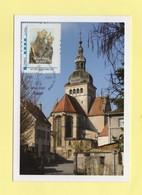 Timbre Personnalise Sur Carte Maximum - Lettre Prioritaire - Notre Dame De Gray - 2009 - France