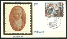 Monaco - Enveloppe 1er Jour - Mozart - 04.05.1981 - Música