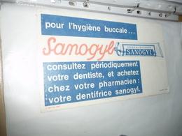 BUVARD Publicitaire  BLOTTING PAPER   -  Hygiene Bucale SANOGYL  Dentifrice - Cake & Candy