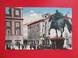 CPA Italie Piacenza Piazza Cavalli - Piacenza