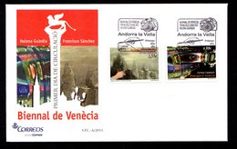 PROMO 1er MAI à 1 Euro ! ANDORRE ANDORRA Bureau Espagnol FDC Biennale Venise 2011 Forte Faciale SUPERBE - Storia Postale