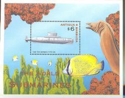 ANTIGUA & BARBUDA   2406 MINT NEVER HINGED SOUVENIR SHEET OF FISH-MARINE LIFE  SUBMARINES - Fishes