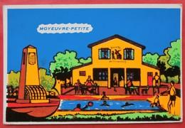 Cpsm 57 MOYEUVRE PETITE    Piscine, Buvette,  FEUTRINE - France