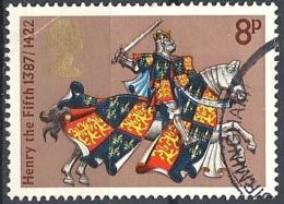 Gran Bretagna - 1974 King Henry V, 8p Multi # S.G. 960 - Michel 656 - Scott 726 USED - Oblitérés