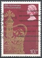 Gran Bretagna - 1978 XXV Of Coronation Of Elizabeth II, 10½p Multi # S.G. 1060 - Michel 766 - Scott 836 USED - Usados