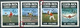 Costa Rica - 1980 - Yt PA 764/767 - J.O. De Sydney - ** Mais 765 Et 766 Dents Courtes, Voir Scan - Prix Adapté - Costa Rica