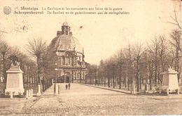 Scherpenheuvel-Zichem - CPA - Montaigu - La Basilique Et Les Monuments Aux Héros De La Guerre - Scherpenheuvel-Zichem