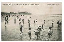 Ostende - La Plage Devant Le Palace Hôtel - Edit. Le Bon N° 159 - 2 Scans - Oostende