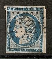 PC 277 BASTIA Corse Sur 25c Première Emission. - 1849-1850 Cérès